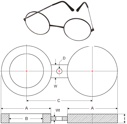 spectacle blind flanges dimensions